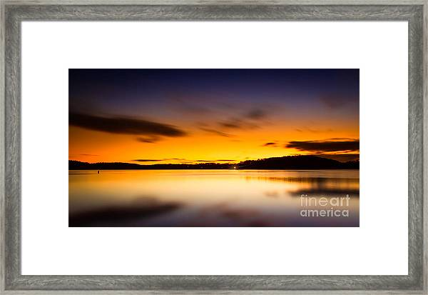 Lake Lanier Sunrise Framed Print