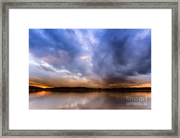 Lake Lanier Sunset Framed Print