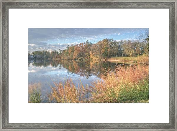 Lake Lenape In Autumn  Framed Print