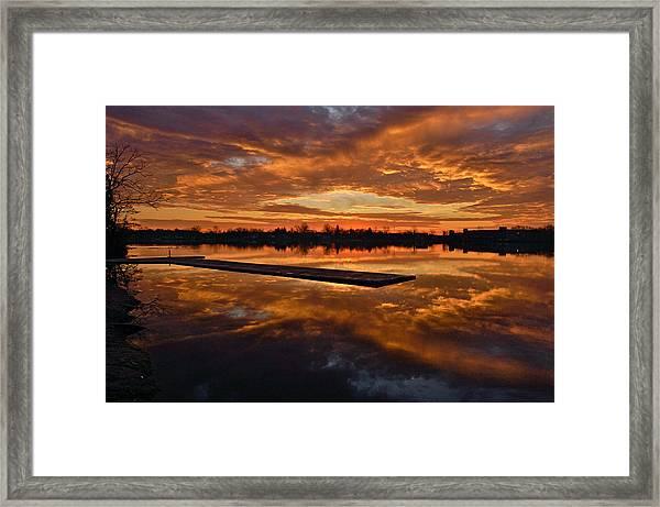 Lake Lenape Sunrise1 Framed Print
