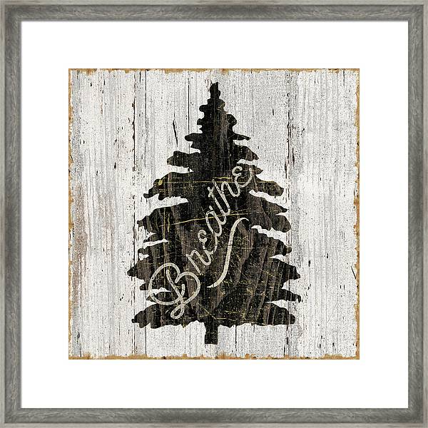 Lake Lodge X Neutral Framed Print