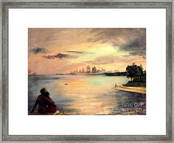 Lake Michigan Chicago Skyline 1952 Framed Print