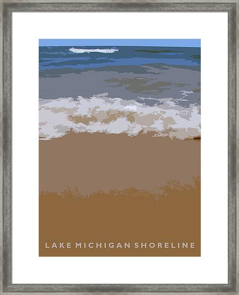 Lake Michigan Shoreline Framed Print