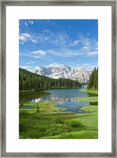 Lake Misurina Framed Print by Bob Gibbons