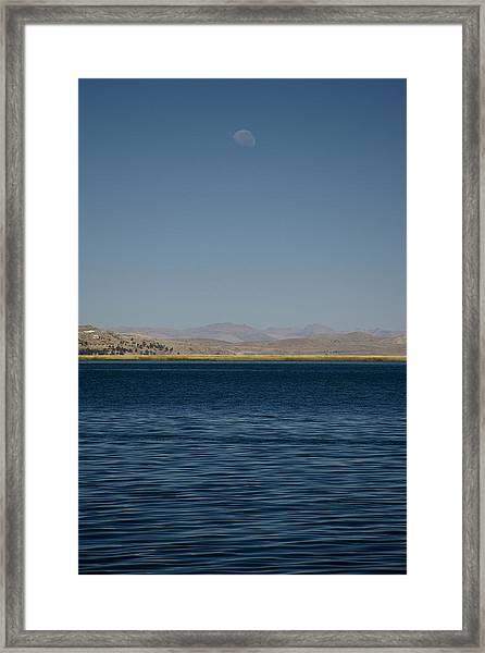 Lake Moonrise Framed Print