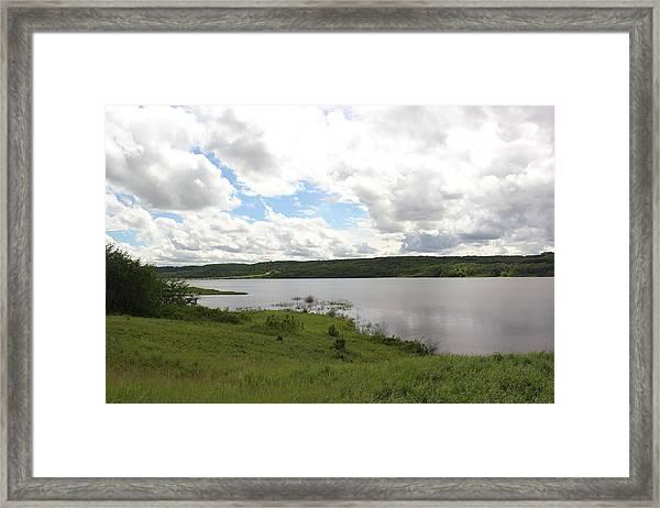 Lake Of The Prairies Framed Print