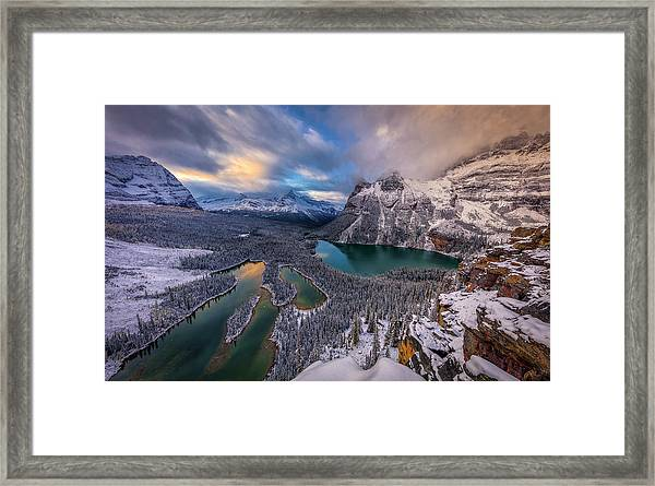 Lake Ohara Framed Print by Michael Zheng