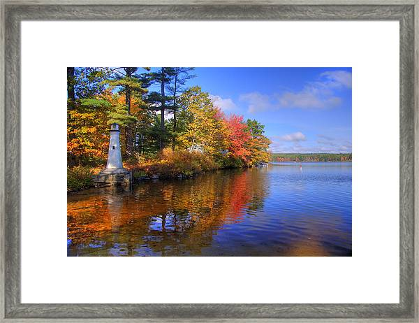 Lake Potanipo Lighthouse Framed Print by Joann Vitali
