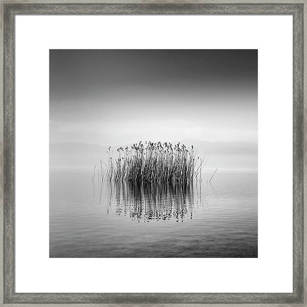 Lake Reflections Framed Print by George Digalakis