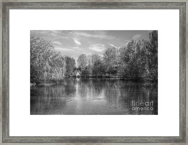 Lake Reflections Mono Framed Print