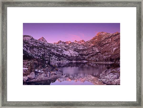 Lake Sabrina Sunrise Eastern Sierras California Framed Print