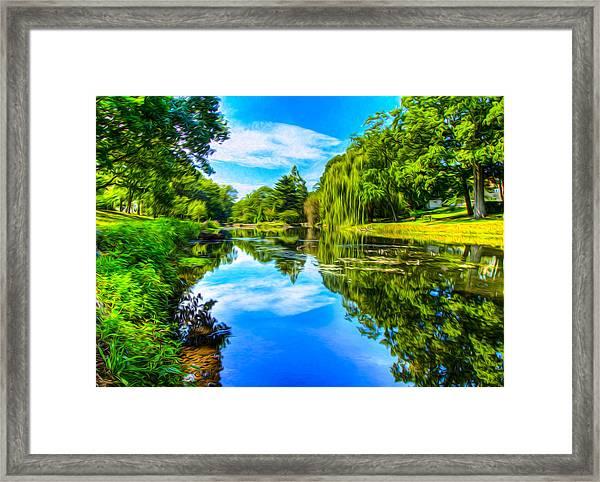 Lake Scene Framed Print
