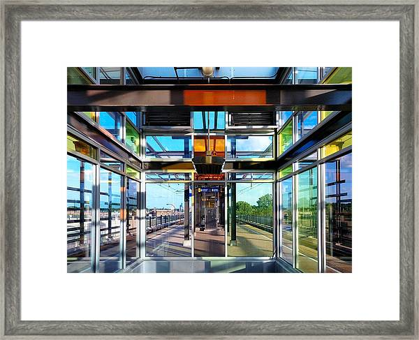 Lake Street Rail Station Framed Print
