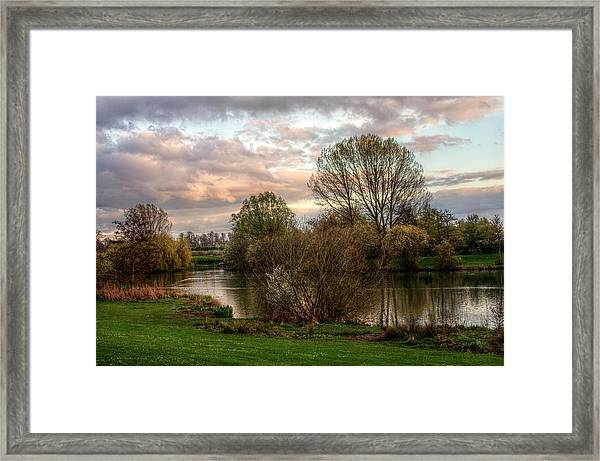Lake Sunset Framed Print