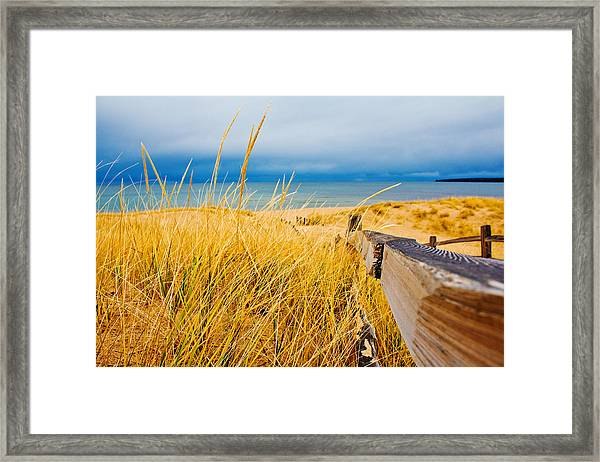 Lake Superior Beach Framed Print