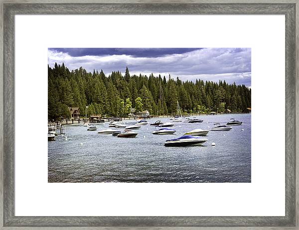 Framed Print featuring the photograph Lake Tahoe Boats by William Havle