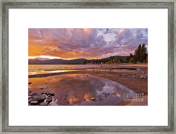 Framed Print featuring the photograph Lake Tahoe by Mae Wertz