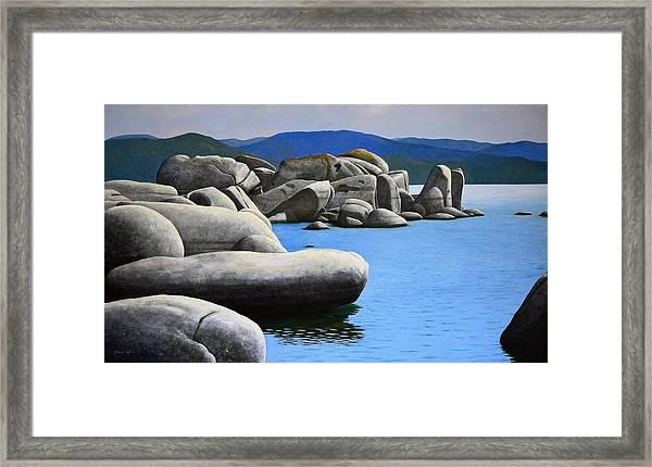 Lake Tahoe Rocky Cove Framed Print