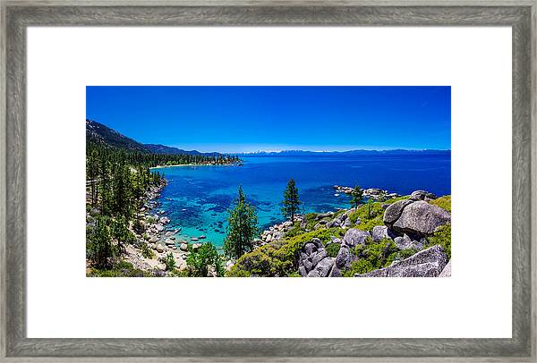 Lake Tahoe Summerscape Framed Print