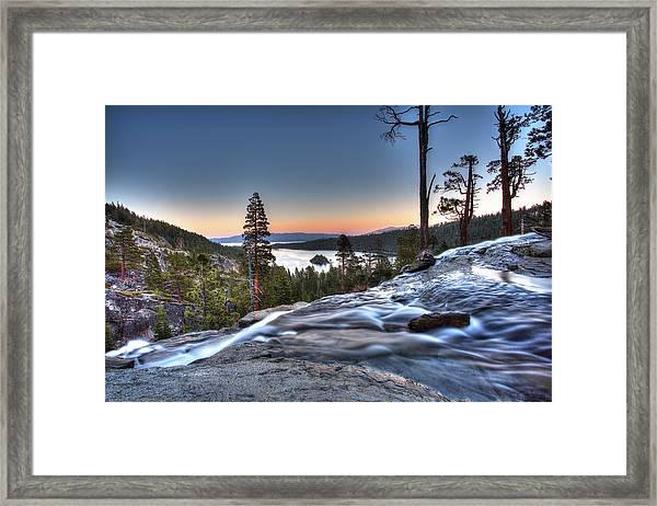 Lake Tahoe Sunset At Eagle Falls Framed Print