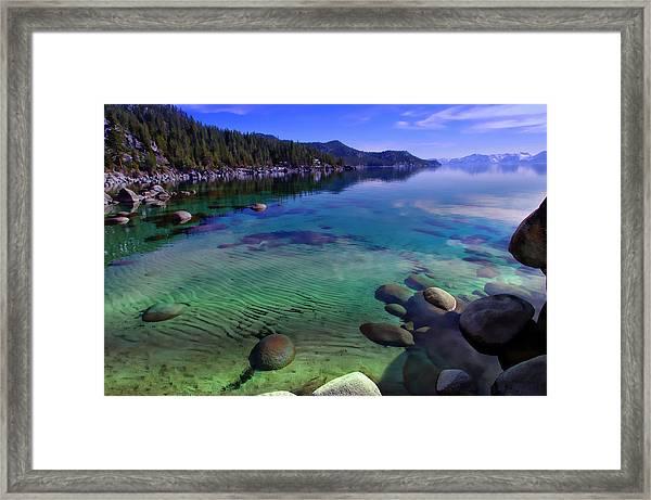 Lake Tahoe Waterscape Framed Print