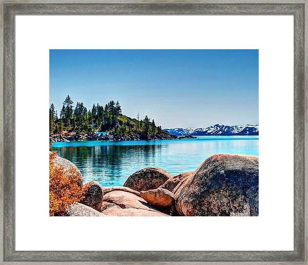 Framed Print featuring the photograph Lake Tahoe Winter Calm by William Havle