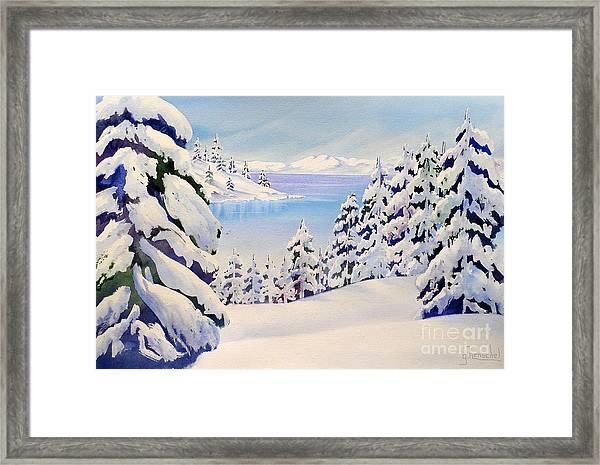 Lake Tahoe Winter Framed Print