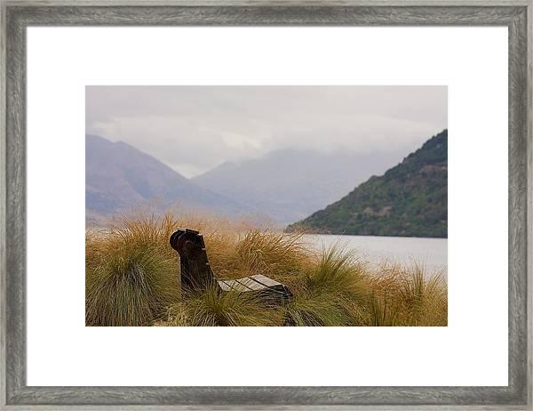 Lake Wakatipu Bench Framed Print