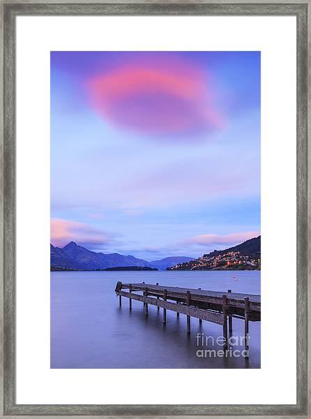 Lake Wakatipu Queenstown New Zealand Framed Print