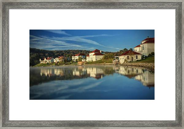 Lake White Morning Framed Print