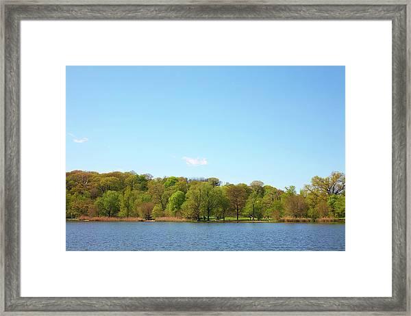 Lake With Fall Foliage Framed Print