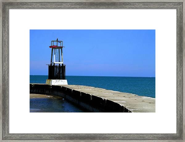 Lakefront Pier Tower Framed Print