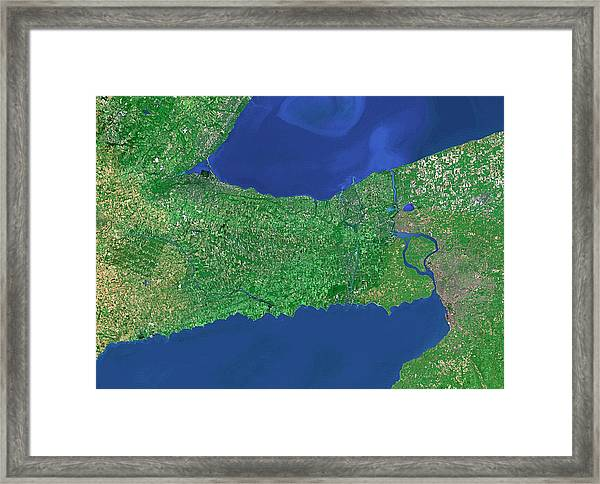 Lakes Erie And Ontario Framed Print