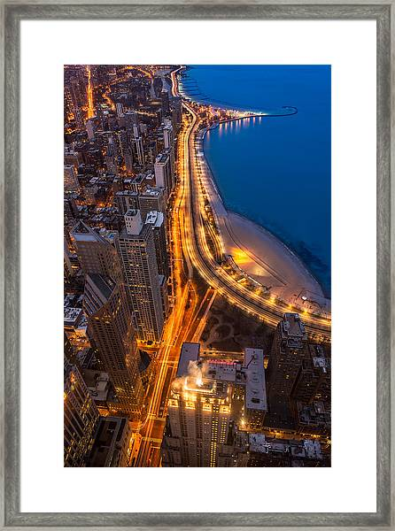Lakeshore Drive Aloft Framed Print