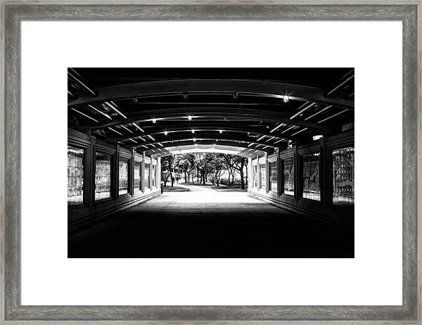 Lakeshore Tunnel Framed Print