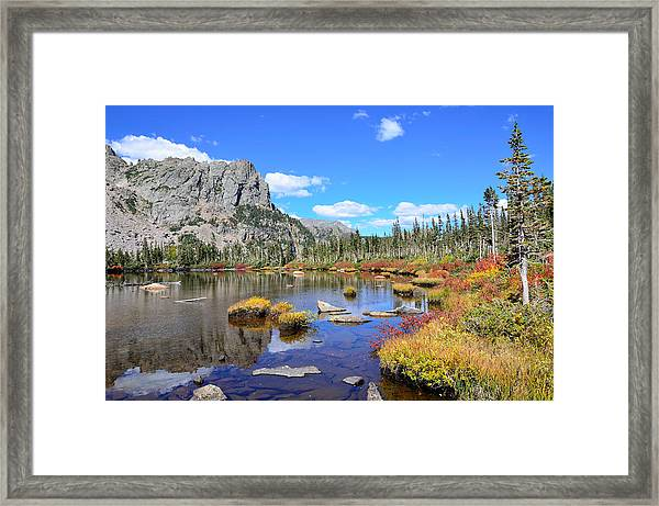 Lakeside Color Framed Print
