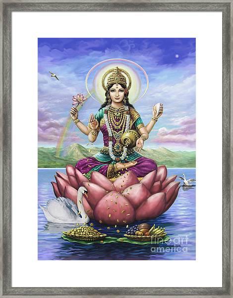 Lakshmi Goddess Of Fortune Framed Print