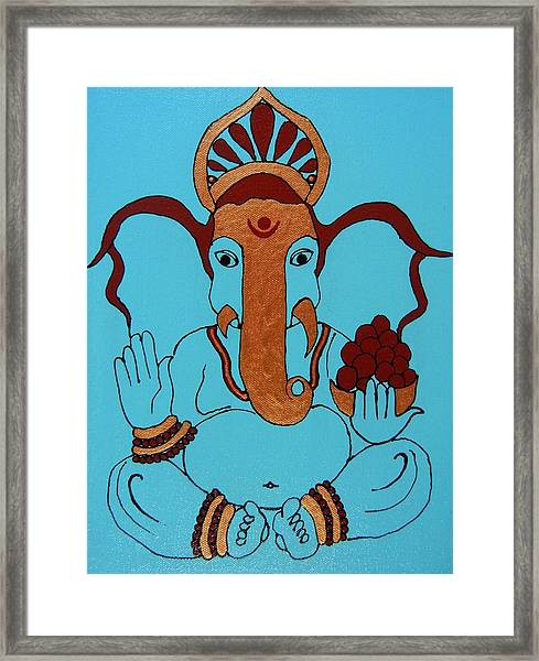 19 Lambakarna-large Eared Ganesha Framed Print