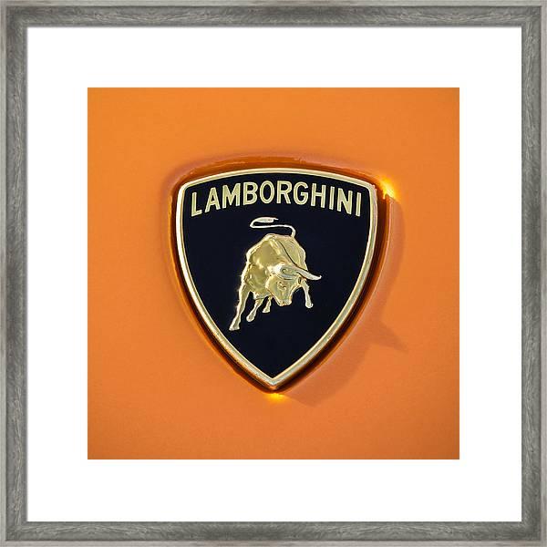 Lamborghini Emblem -0525c55 Framed Print