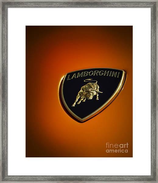 Lamborghini Murcielago Badge Emblem Framed Print