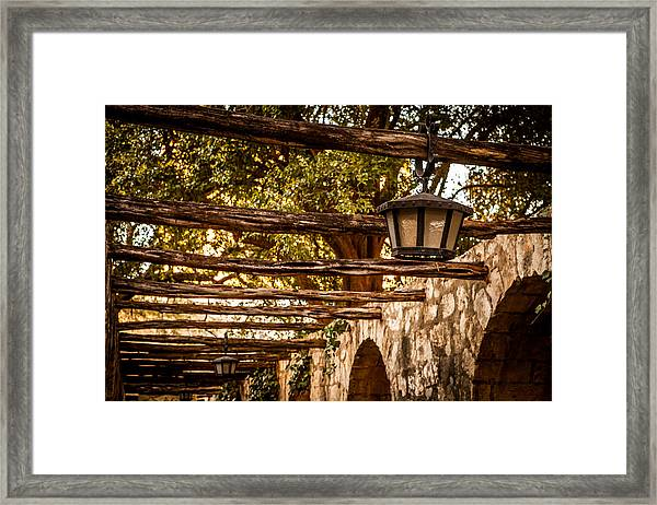 Lamps At The Alamo Framed Print