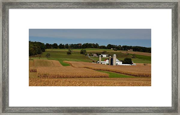Framed Print featuring the photograph Lancaster County Farm by William Jobes