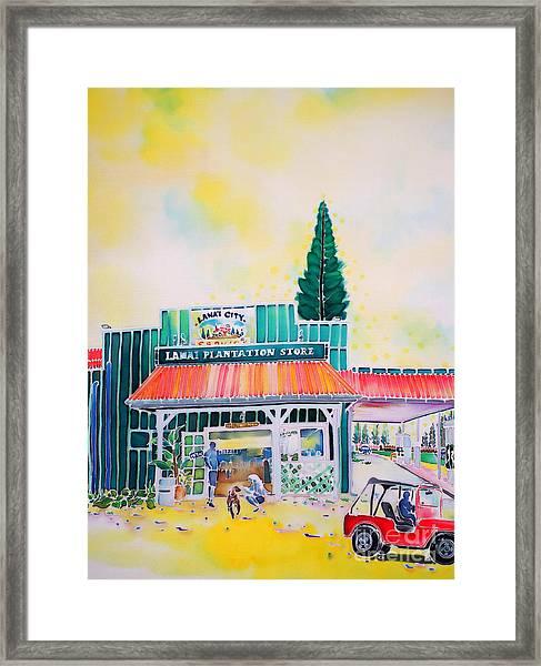 Lanai City Framed Print