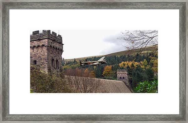 Lancaster Kc-a At The Derwent Dam Framed Print