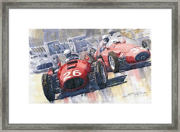 Lancia D50 Alberto Ascari Monaco 1955 Framed Print