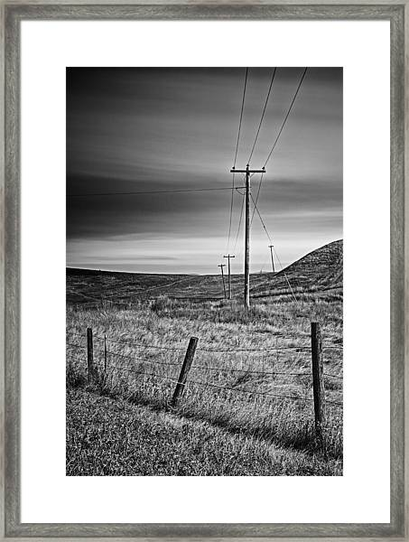 Land Line Framed Print
