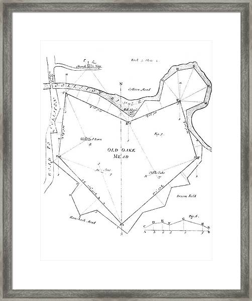 Land Survey From 1722 Framed Print