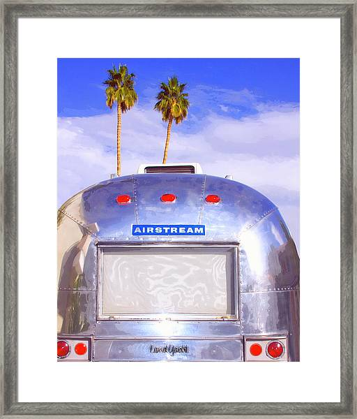 Land Yacht Palm Springs Framed Print