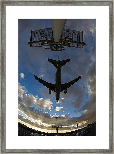 Landing At Lax  73a3680 Framed Print