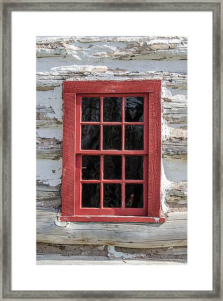 Landow Cabin Window Framed Print